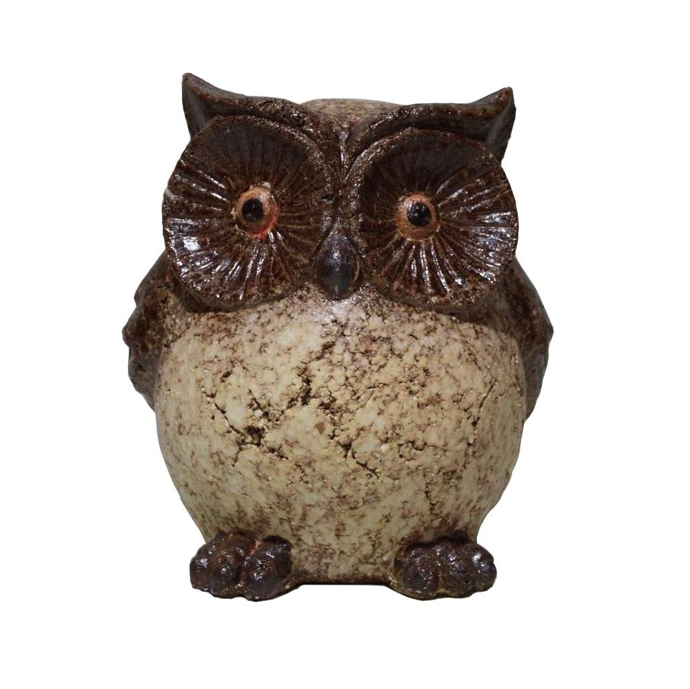 9 inch Clay Owl Statue - Angelo Décor International Inc.