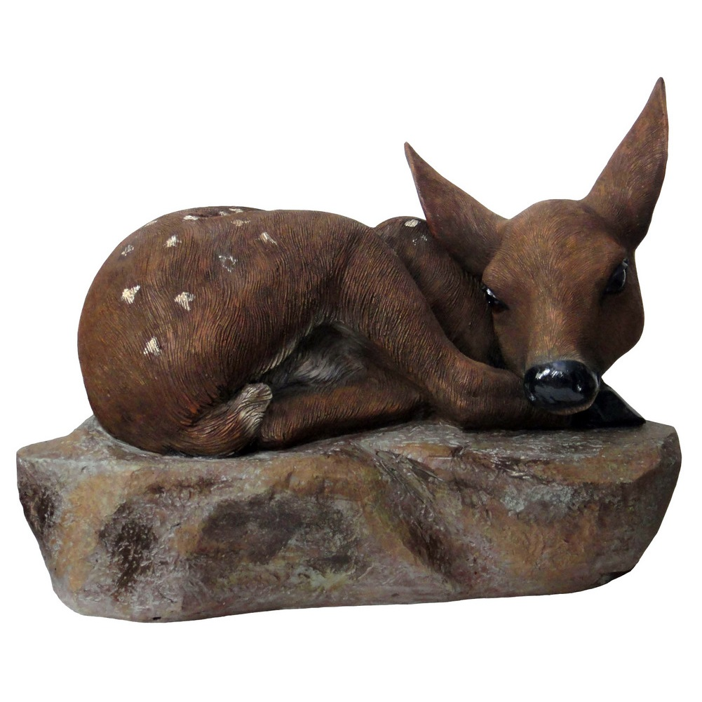Resing fawn statue angelo d cor international inc for Decor international inc