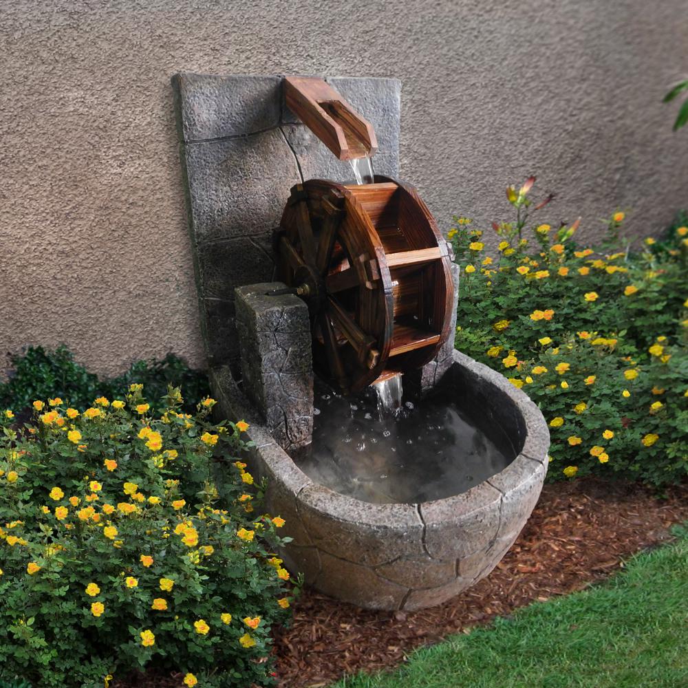 Water Wheel Outdoor Fountain Is Available At: